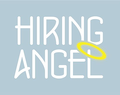 Hiring Angel office admin recruiter logo